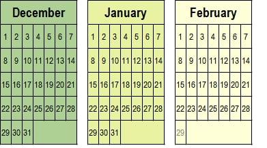 December 2020-January-February 2021